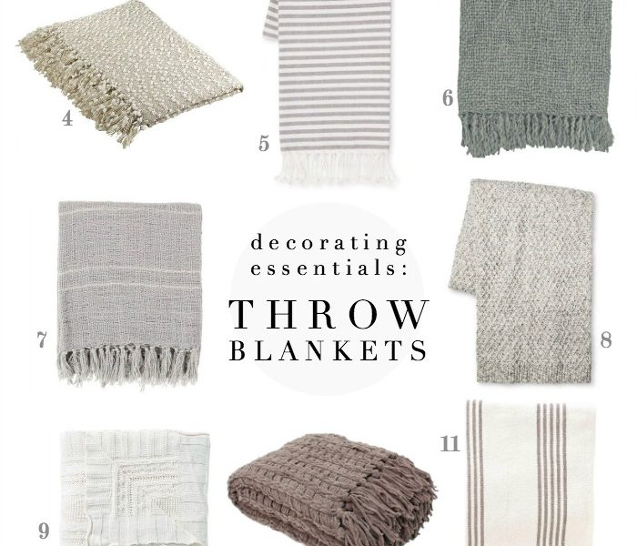 Soft, cozy throw blankets are a farmhouse decorating essential - shop our favorites!