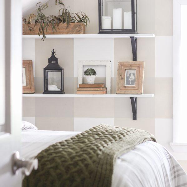 An awkward attic space turns into a charming little boy's farmhouse bedroom!
