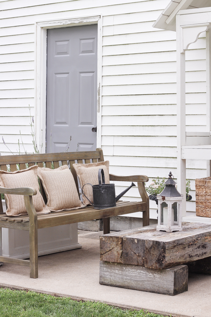 A simple patio perfectly designed for summer relaxation