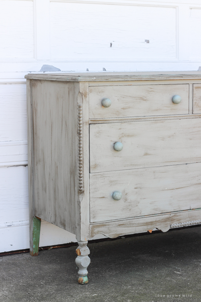 soft blue hand painted dresser makeover love grows wild