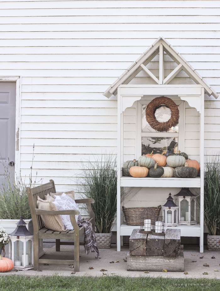 A cozy fall patio perfect for entertaining