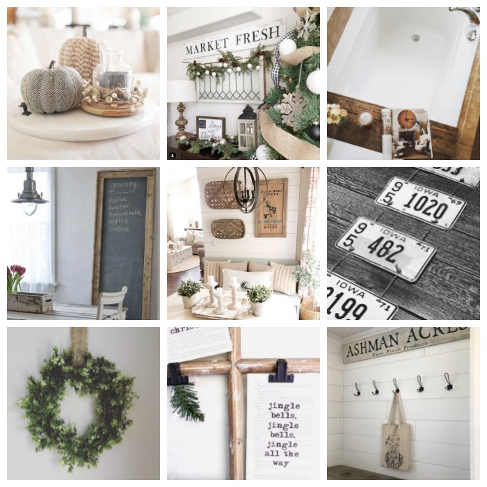 Projects completed from the best-selling home decor and DIY book, A Touch of Farmhouse Charm, written by Liz Fourez