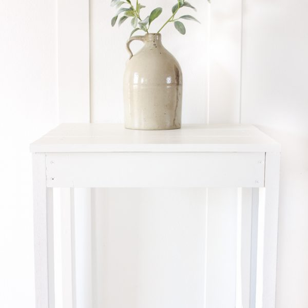 How to build a simple, inexpensive table that is perfect as an end table or nightstand!