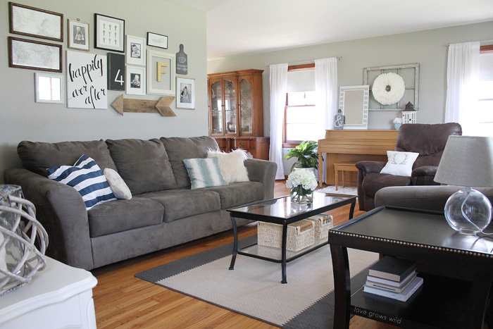 See How This Small Farmhouse Living Room Transformed And Evolved Over The Years From Dark
