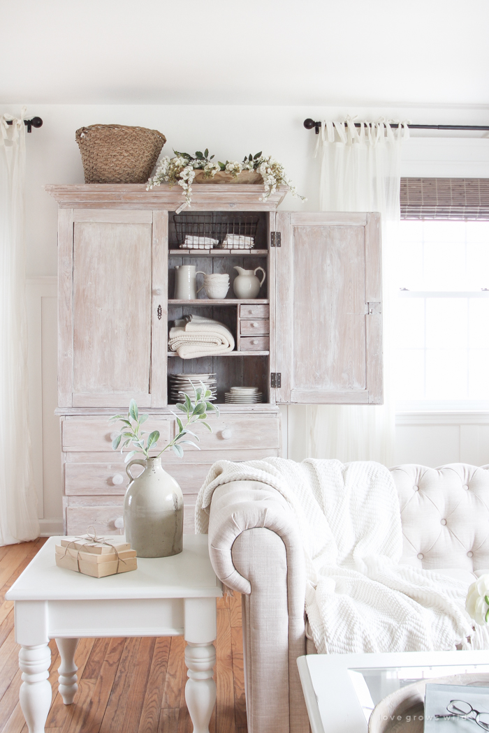 See How This Small Farmhouse Living Room Transformed And Evolved Over The  Years From Dark And