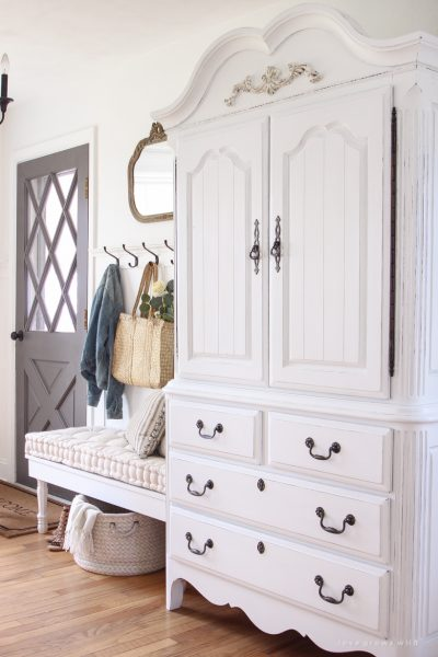 Armoire Makeover + How to Antique Furniture