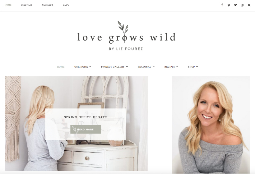 Love Grows Wild home page