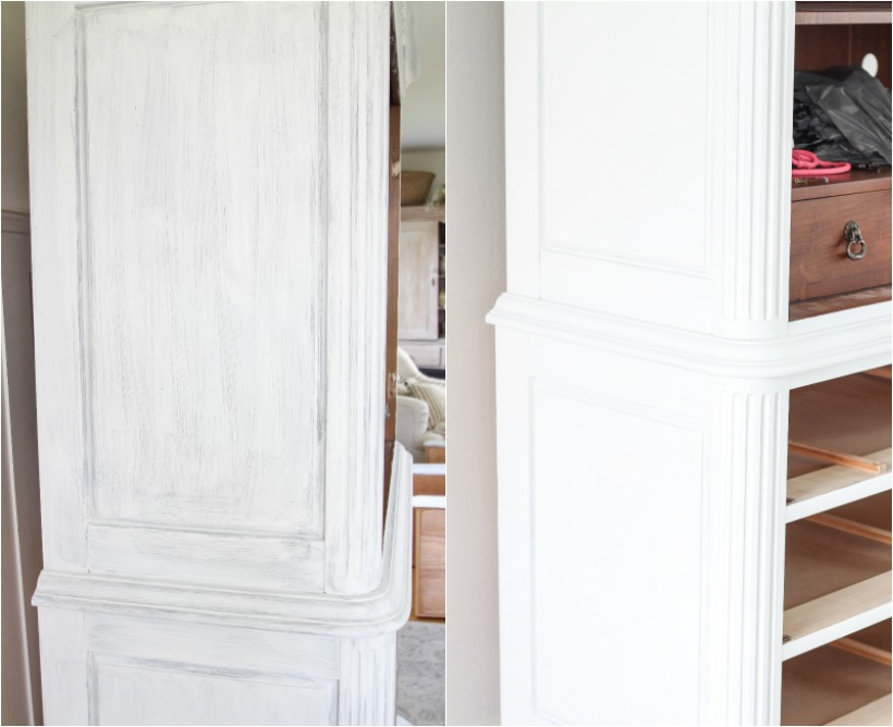 A stunning armoire makeover with chalk paint + the best technique for antiquing furniture!