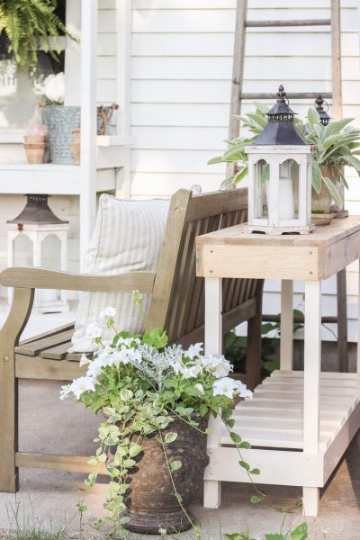 How to Build an Outdoor Console Table