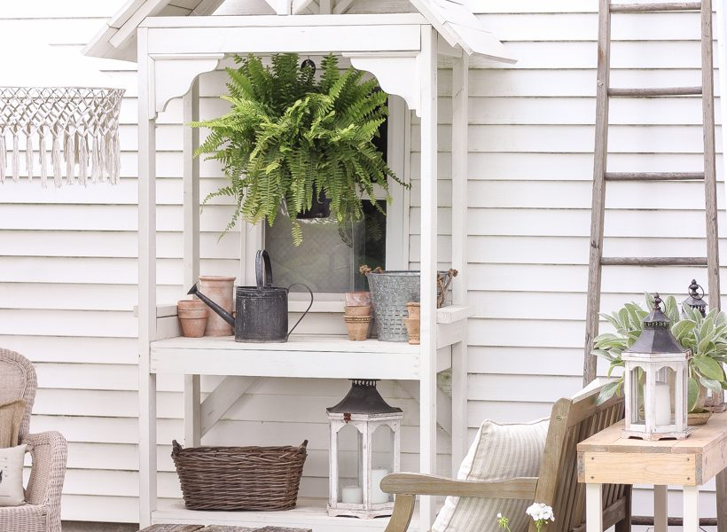 A cozy outdoor retreat for summer