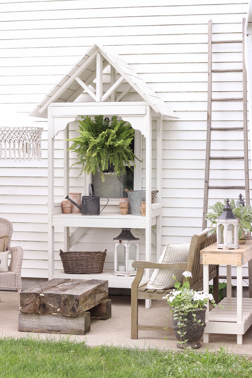 How To Build An Outdoor Console Table Love Grows Wild