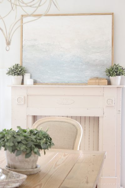 How to Create a Framed Canvas Painting (even when you're not an artist)