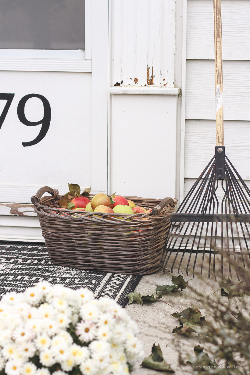 A simple, but sweet fall front porch