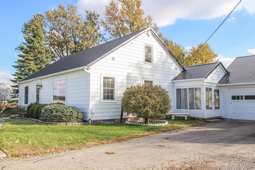 A fresh coat of paint was the first step in the makeover of this adorable Indiana farmhouse