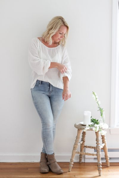 Transitional White Blouse Outfit