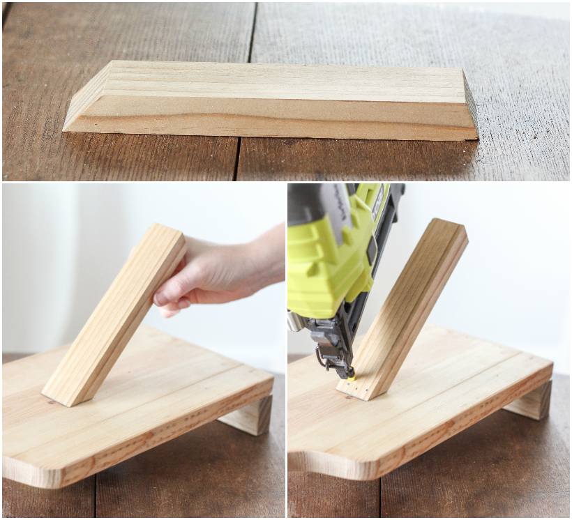 Learn how to make this simple Cutting Board Tablet Holder for your kitchen or an inexpensive handmade gift!