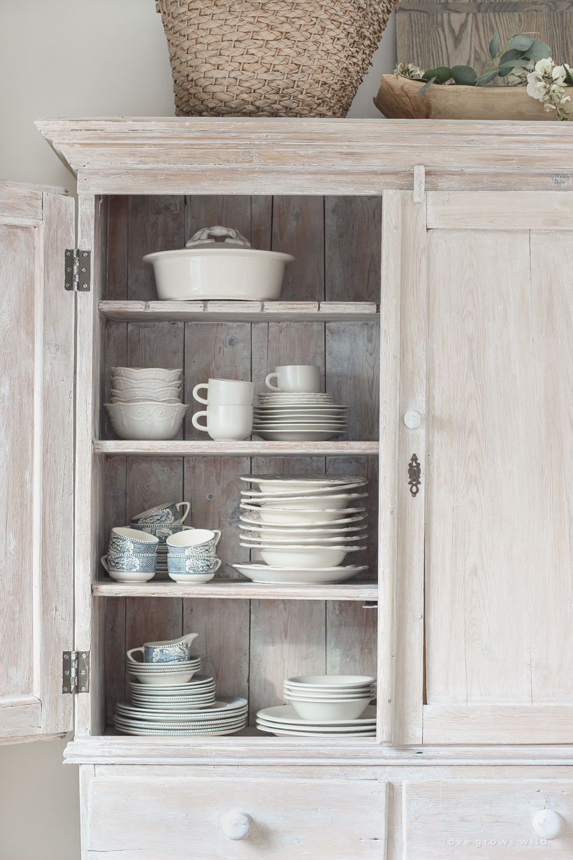Home and lifestyle blogger Liz Fourez shares the best way to organize and store home decor.