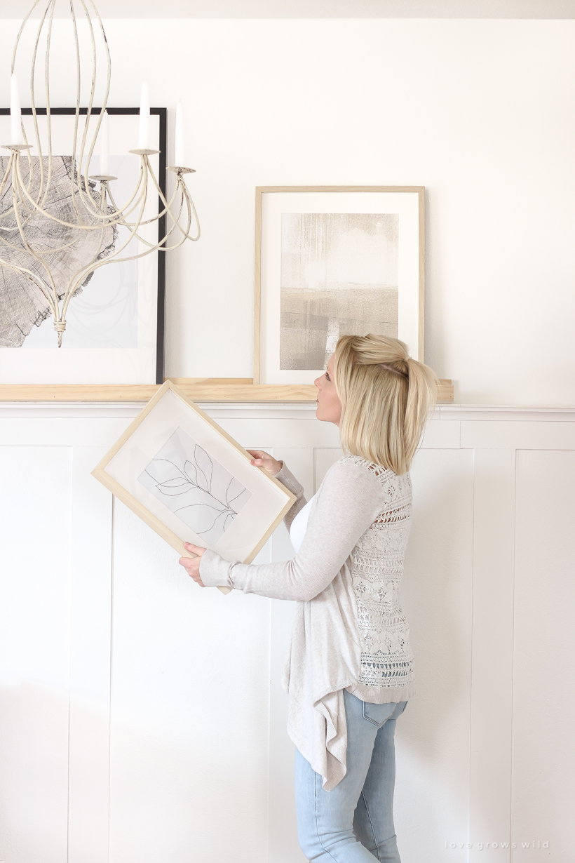 Home And Lifestyle Blogger Liz Fourez Shares The Most Affordable Way To Use  Artwork In Your