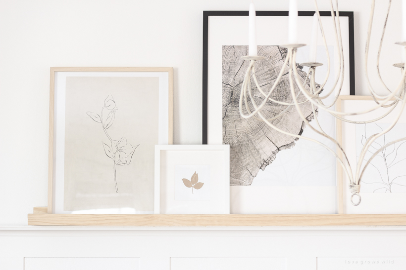 Home and lifestyle blogger Liz Fourez shares an easy way to display your favorite artwork or photos with this DIY Art Shelf
