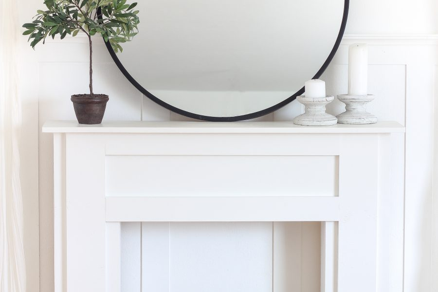 Home and lifestyle blogger Liz Fourez shows how to make a simple, yet stunning mantel that would be perfect in a living room or bedroom. Follow her easy step-by-step photo tutorial to create this beautiful DIY mantel!