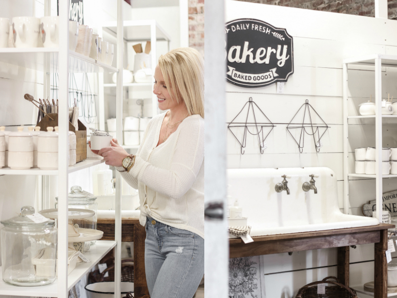 Home and lifestyle blogger Liz Fourez takes you on a tour of her retail shop in Indiana with her favorite home decor pieces and the unique displays she built to create a destination to shop in.