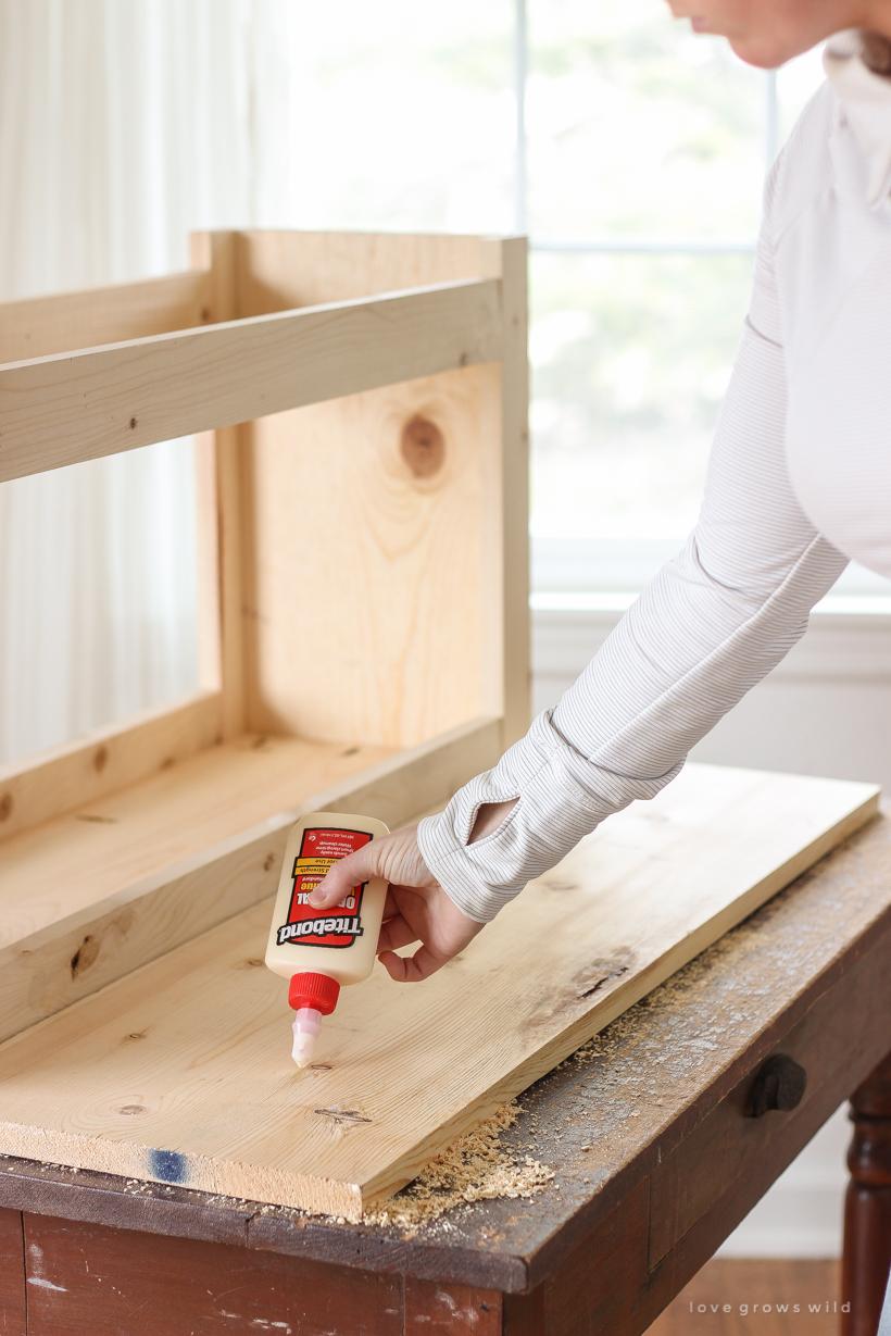 DIY Entryway Bench with Storage Tutorial - Love Grows Wild