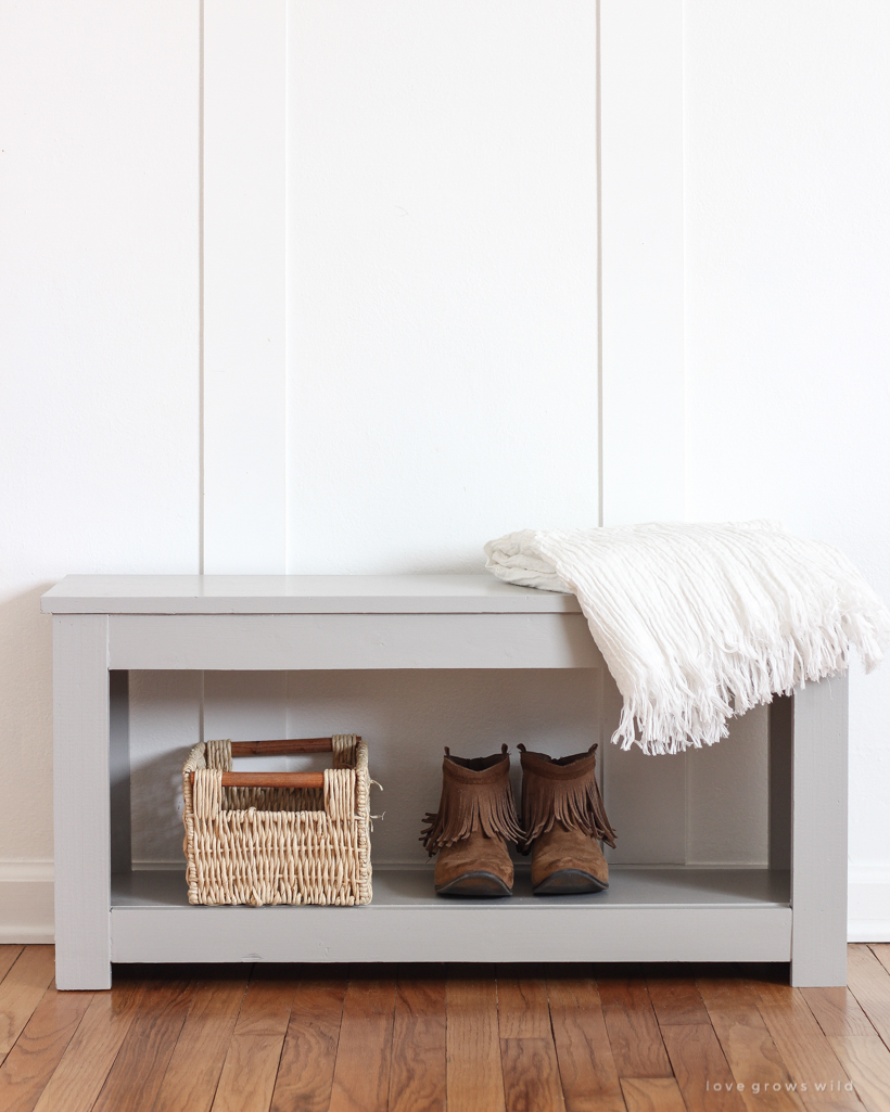 Enjoyable Diy Entryway Bench With Storage Tutorial Love Grows Wild Ibusinesslaw Wood Chair Design Ideas Ibusinesslaworg