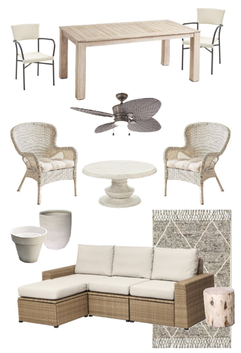 Furniture and decor for a beautiful outdoor living space