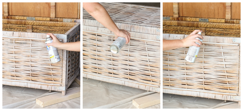 Step-by-step tutorial for painting wicker