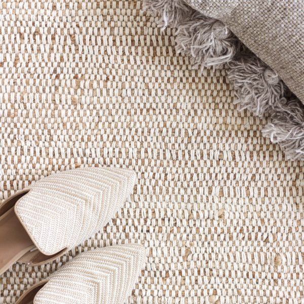 The perfect rug with tons of texture and a soft, neutral color