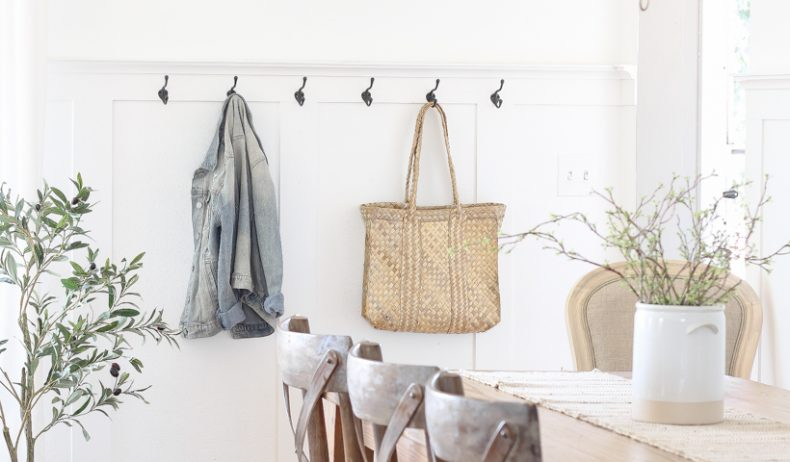 A simple entryway in a small space