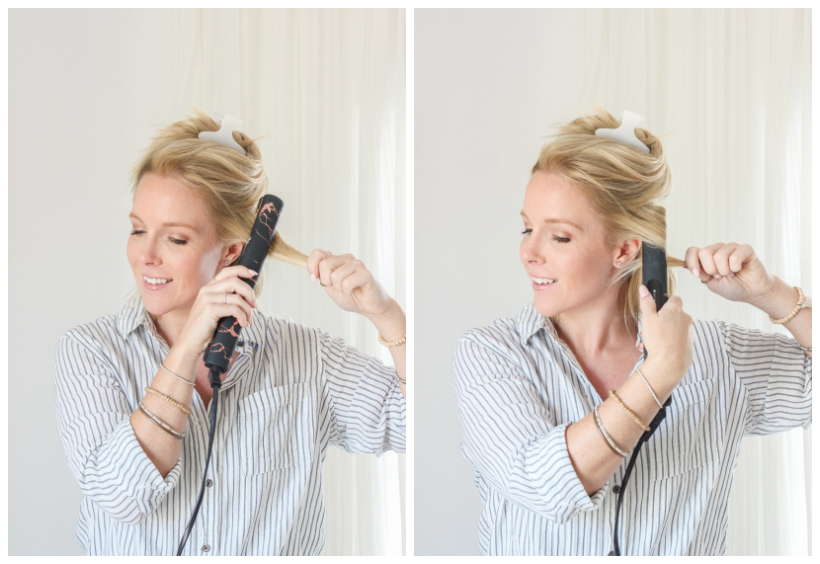 How to Curl Hair with a Straightener - a simple hairstyle tutorial