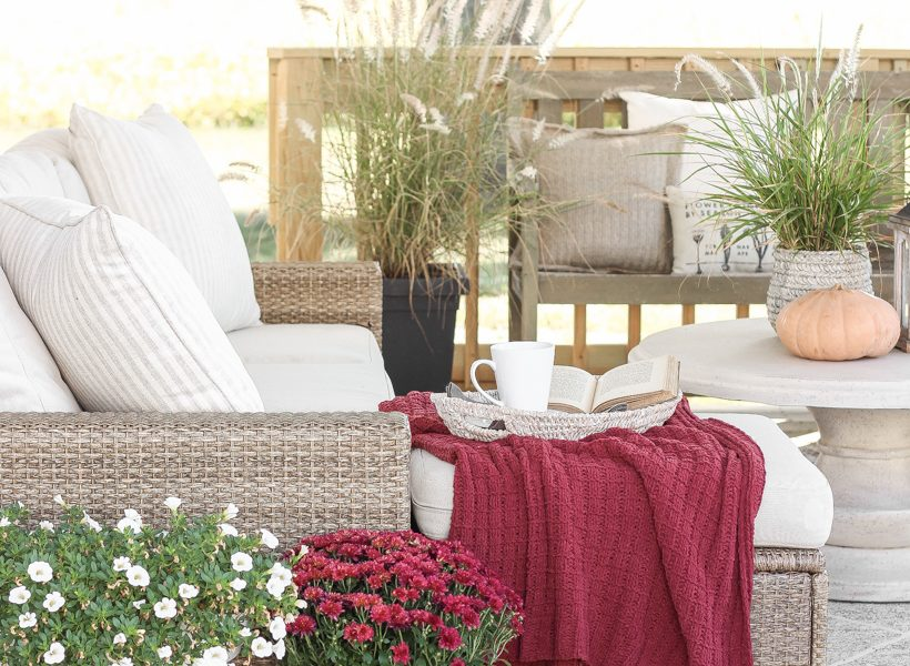 How to transition an outdoor space from summer to fall on a budget