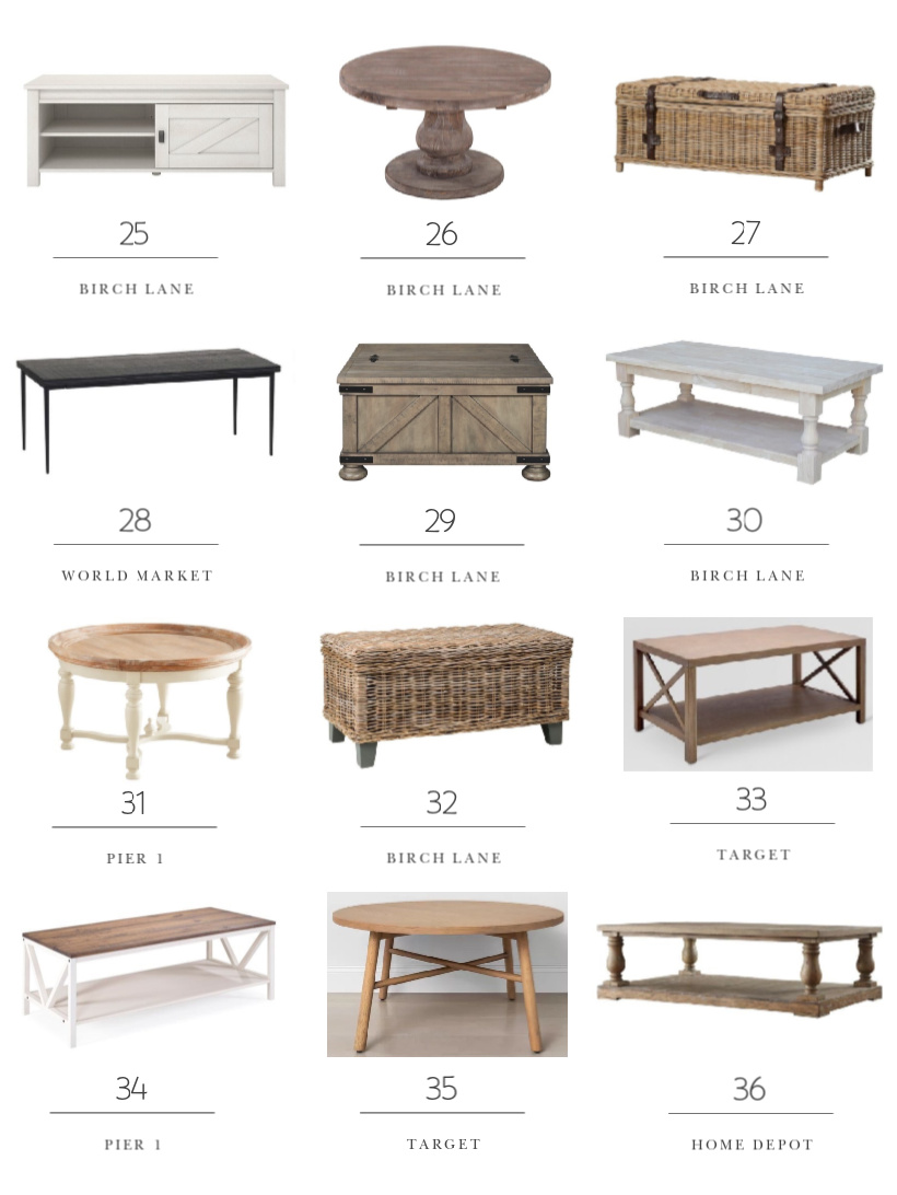 A huge collection of stylish, affordable, and unique coffee tables curated by home and lifestyle blogger Liz Fourez.