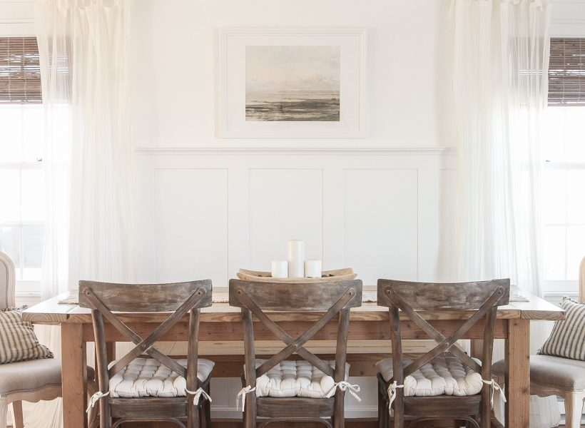 Take a tour of this beautiful newly updated living and dining room in blogger Liz Fourez's Indiana farmhouse.