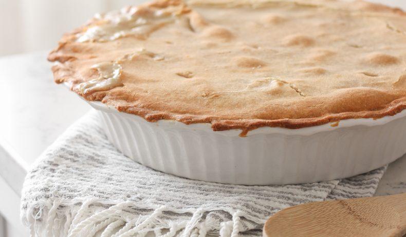 Classic, easy chicken pot pie recipe from home blogger Liz Fourez