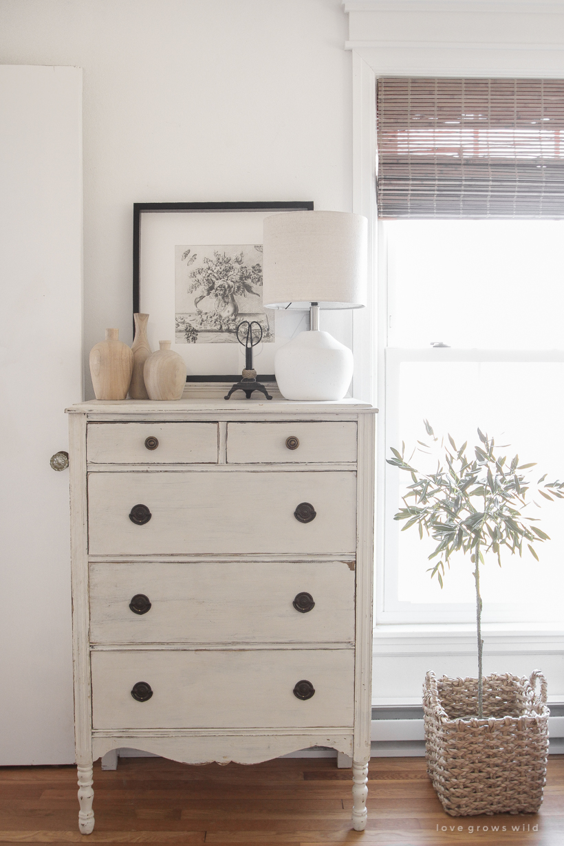 a light, bright + neutral home office