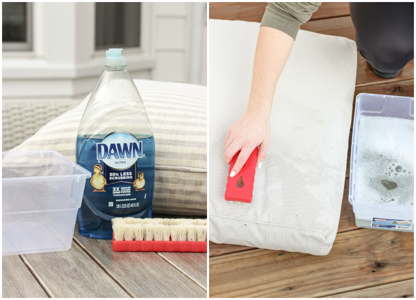 How to Clean your Outdoor Cushions + Pillows to keep them looking brand new