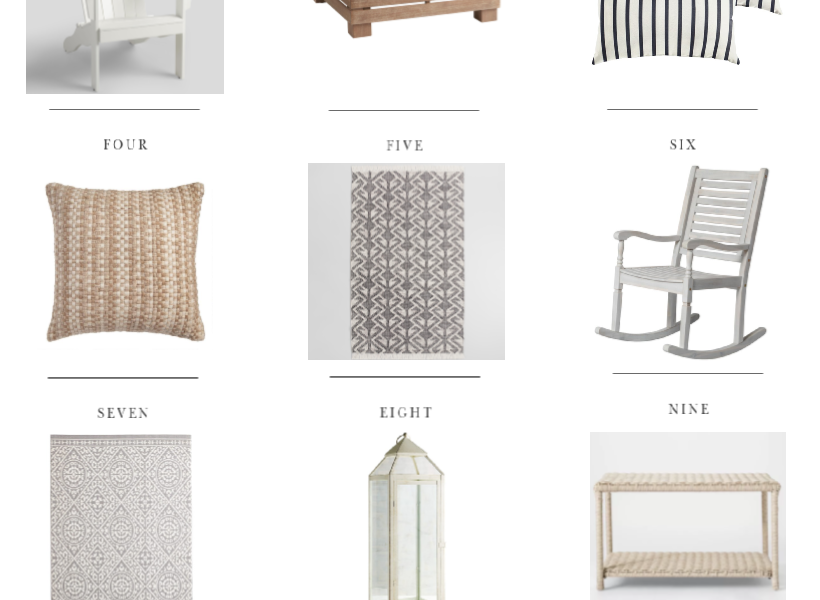 Gorgeous outdoor decor and furniture for every budget!