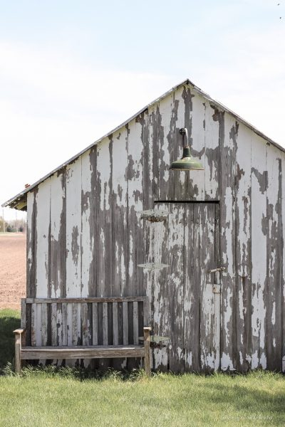 An old barn gets new life with a fresh coat of paint and some added trim details. See more of this gorgeous barn makeover at LoveGrowsWild.com