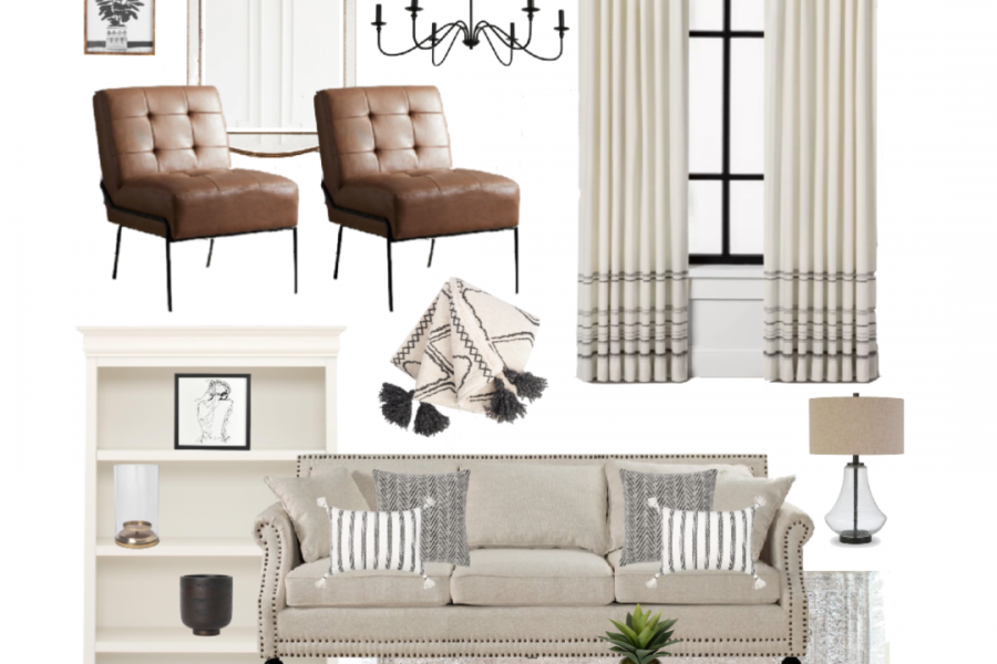 See all the pieces used in this Modern Traditional Living Room design by Liz Fourez of LoveGrowsWild.com