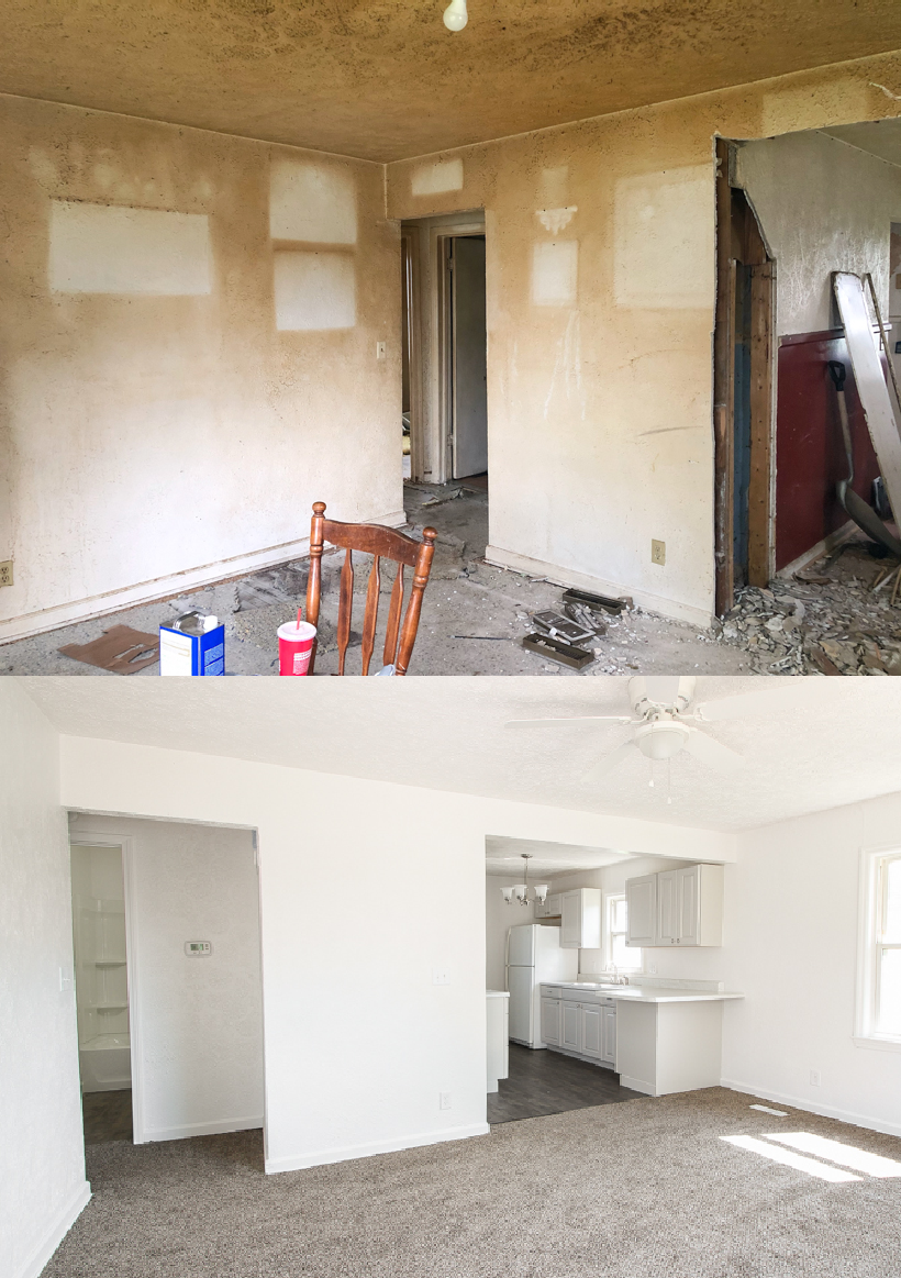The full reveal of the finished Armstrong House. You won't believe the before and after!
