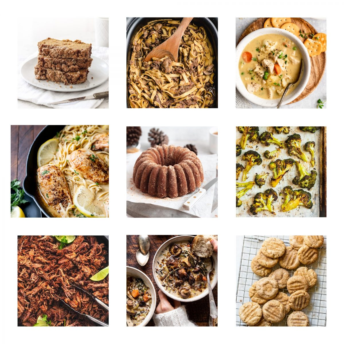 Get inspired in the kitchen with this menu of recipes featuring fall flavors and comfort food!