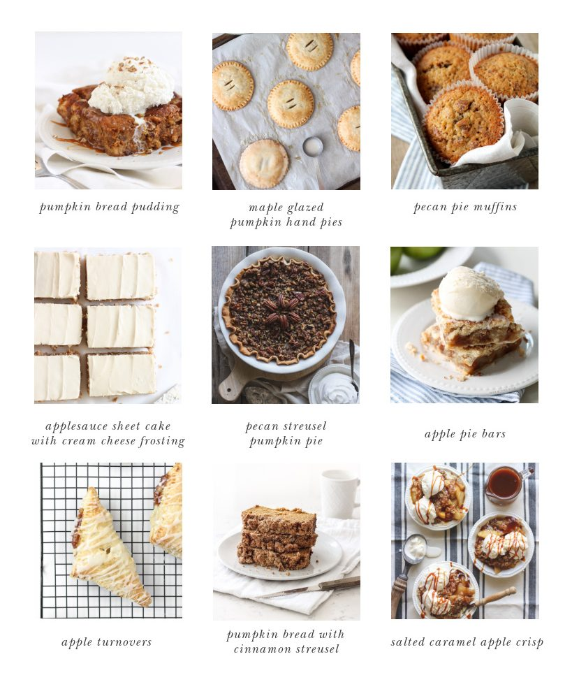 Favorite Thanksgiving Desserts from home blogger and interior decorator Liz Fourez