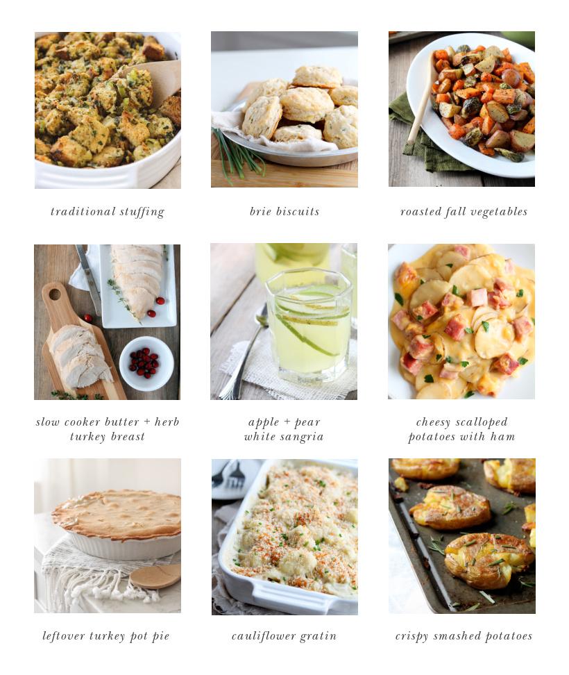 Favorite Thanksgiving Recipes from home blogger and interior decorator Liz Fourez