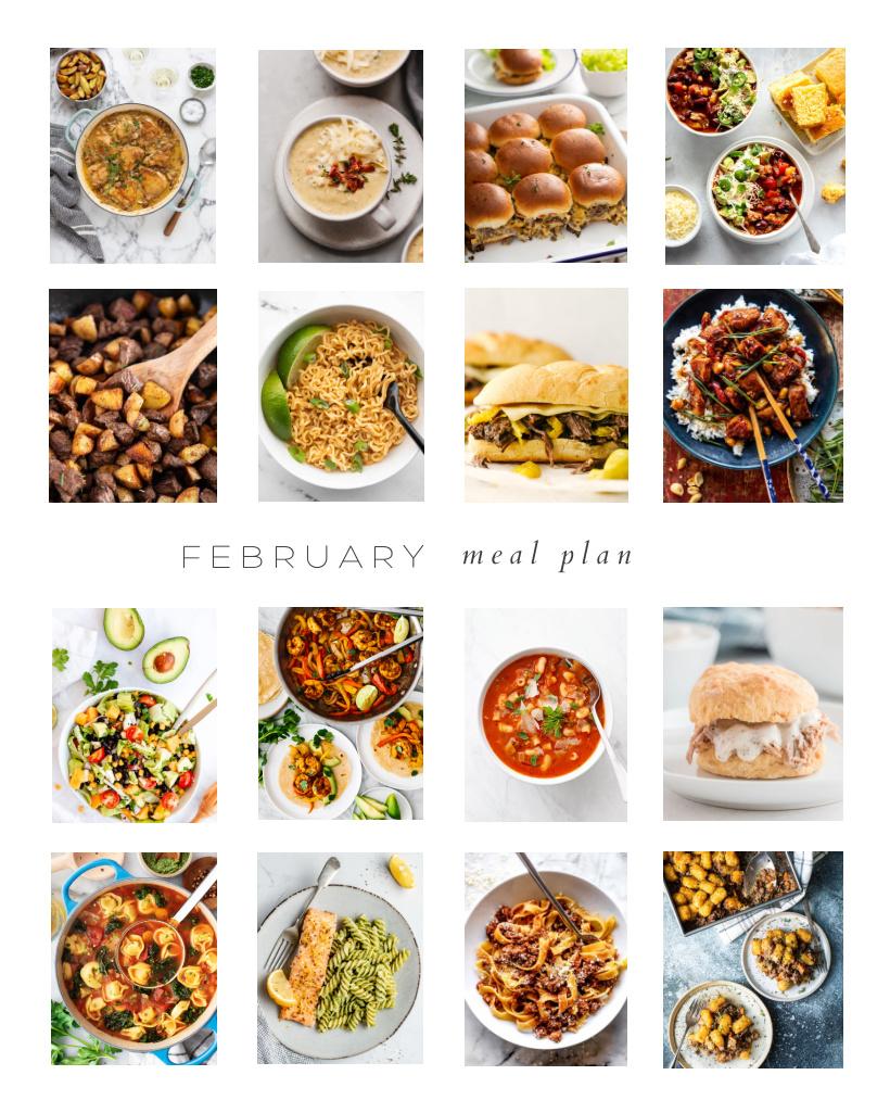 A full month of delicious dinner ideas plus 6 bonus recipes!