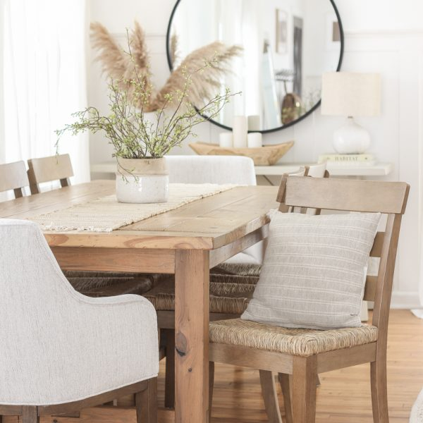 Home blogger and interior decorator Liz Fourez adds new chairs in her dining room for a simple and stylish update.