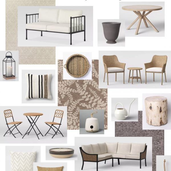 Home blogger and interior decorator Liz Fourez shares her favorite finds for outdoor furniture and decor