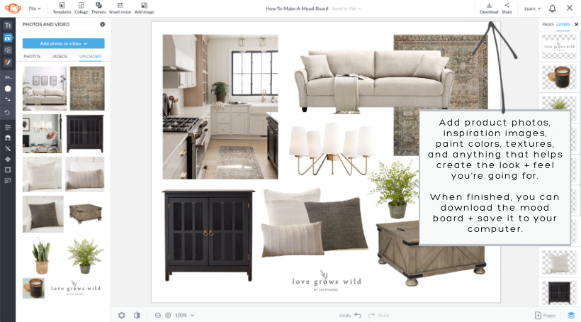 Interior decorator and home blogger Liz Fourez shares an easy method for creating design mood boards and shows how to use them to help decorate your home!