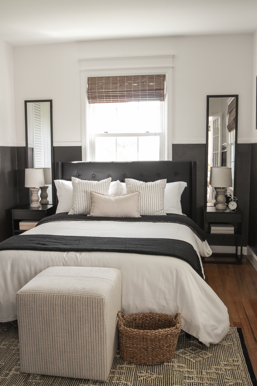 Interior decorator and home blogger Liz Fourez reveals a moody, modern bedroom makeover for her teenage son!